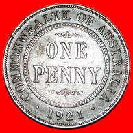 * INDIA/GREAT BRITAIN DIES: AUSTRALIA ★ 1 PENNY 1921! George V (1911-1936)  LOW START ★ NO RESERVE! - Penny