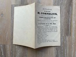 Litanie -  Paus H. CORNELIUS - DOEL (WAAS) - Imprimatur GENT 1924 - A. De Bock, Vic. Gen. / B. Haelterman C.L.C. - Andachtsbilder
