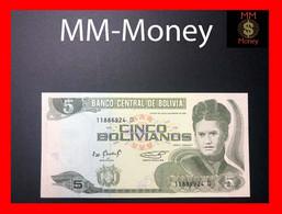 """Bolivia  5 Bolivianos 1995  P. 217  """"serie D""""    UNC - Bolivia"""