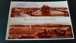 Geneve - Stempel Hotel Central Geneve - Sin Clasificación