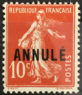 Cours D'instruction ANNULE YT 18 (°) Neuf Ss Gomme Semeuse (138) 10c Rouge (60 Euros) France – Cypres - Cours D'Instruction