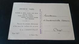 Geneve - Joyeux Noel 1927 - G. Et J. Dunant Fallot , 2 Chemin Rieu - Sin Clasificación