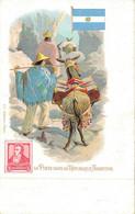 H1209 - Illustrateur - LA POSTE Dans La REPUBLIQUE ARGENTINE - Timbres (représentations)