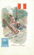 H1209 - Illustrateur - LA POSTE Au PEROU - Timbres (représentations)
