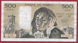 """France 500 Francs """"Pascal"""" Du 05/07/1984.H--ALPH.O.212 -- .dans L 'état (P.185) - 500 F 1968-1993 ''Pascal''"""