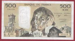 """France 500 Francs """"Pascal"""" Du 05/05/1988.E--ALPH.M.282 -- .dans L 'état (P.189) - 500 F 1968-1993 ''Pascal''"""