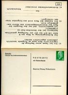 DDR PP15 B1/001b Privat-Antwortpostkarte BENACHRICHTIGUNG 1969  NGK 20,00 € - Privatpostkarten - Ungebraucht