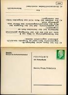 DDR PP15 B1/001d Privat-Antwortpostkarte BENACHRICHTIGUNG 1972 NGK 20,00 € - Privatpostkarten - Ungebraucht