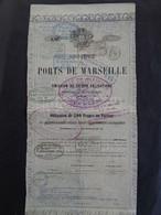 FRANCE - 13 - STE DU PORT DE MARSEILLE - OBLIGATION DE 500 FRS - PARIS 1858 - PEU COURANT - Unclassified