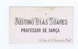 C11B 2) Portugal Publicidade Antiga Impresso Comercial JUSTINO DIAS SOARES PROFESSOR DE DANÇA Lisboa - Portugal