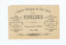 C11B 3) Portugal Publicidade Antiga Impresso Comercial JOAQUIM RODRIGUES DA SILVA VIEIRA Papelaria Lisboa Fatura - Portugal