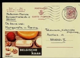 Publibel Obl. N° 2071 ( BELGISCHE Kaas - Fromages) Obl. BRUGGE 1965 - Publibels