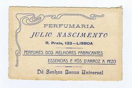 C11B 6) Portugal Publicidade Antiga Impresso Comercial Perfumaria JÚLIO NASCIMENTO  Lisboa - Portugal