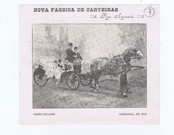 C11B 7) Portugal Publicidade Antiga Impresso Comercial Fábrica De Carteiras J. ALBERTO BASTOS SILVA  Lisboa 1909 - Portugal