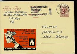 Publibel Obl. N° 2140  ( Bank - Banque : CGER - ASLK) Obl. BRUGGE - X - 1970 - Publibels