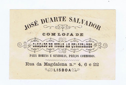 C11B 8) Portugal Publicidade Antiga Impresso Comercial JOSÉ DUARTE SALVADOR Sapataria Lisboa - Portugal