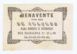 C11B 11) Portugal Publicidade Antiga Impresso Comercial BENAVENE Calçado R. Da Madalena Lisboa - Portugal