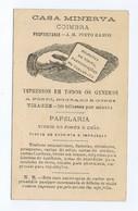 C11B 15) Portugal Publicidade Antiga Impresso Comercial Tipografia Papelaria Vinhos E Chás CASA MINERVA Coimbra - Portugal