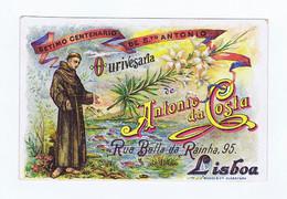 C11B 18) Portugal Publicidade Antiga Impresso Comercial OURIVESARIA DE ANTÓNIO DA COSTA R. Da Prata Lisboa Santo António - Portugal