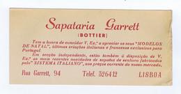 C11B 29) Portugal Publicidade Antiga Impresso Comercial SAPATARIA GARRETT (BOTTIER) Lisboa - Portugal