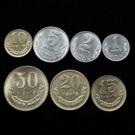 Mongolia Set Of 7 Coins 1.2.5.10.15.20.50 Random Year Sent - Mongolia