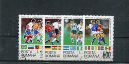 Roumanie 1994 Yt 4171-4174 Coupe Du Monde De Football, Aux Etats-Unis - Usati