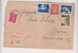 CROATIA WW II , 1944 ZAGREB Nice Registered Priority Cover To Zemun - Kroatië