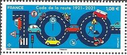 FRANCE, 2021, MNH, CARS, ROAD SAFETY, TRAFFIC CODE,1v - Voitures