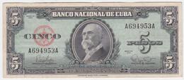 Cuba P 92 - 5 Pesos 1960 - VF - Cuba