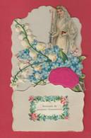 Souvenir De Première Communion ...  Joli Découpi ... Commuiante , Fleurs - 3  ( Voir Verso ) - Communion