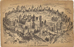 Illustrateur A Robida LA CITE DE CARCASSONNE  RV - Carcassonne