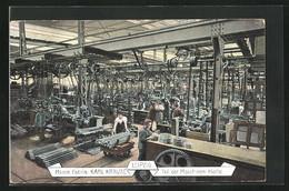 AK Leipzig, Masch. Fabrik Karl Krause, Teil Der Maschinen-Halle Mit Fabrikarbeitern - Industry