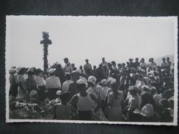 1953 RARA CPA FOTO MONTE DENTE RADUNO ESCURSIONISTICO PRO LOCO MASONE MESSA AL CAMPO - Luoghi