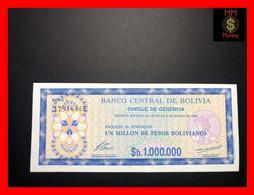 BOLIVIA 1.000.000 1000000 Pesos Bolivianos D.S.  8.3.1985   P. 192 C   UNC - Bolivia