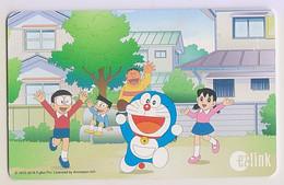 Singapore Travel Transport Card Subway Train Bus Ticket Ezlink Used Doraemon - Mondo