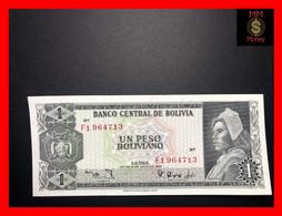 """BOLIVIA 1 Peso Boliviano  1968   """"last Prefix F 1""""   P. 158   AU - Bolivia"""