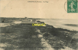 85 Longeville, La Plage N° 2, Villa Dans Les Dunes Au 1er Plan, Affranchie 1909, éd Amiaud 2944 - Sonstige Gemeinden