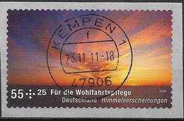 2009 Deutschland Germany  Mi. 2717R Used   Himmelserscheinungen: Sonnenuntergang - Gebraucht