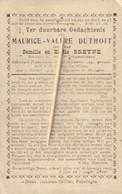 Oorlogsslachtoffer : 1914, Soldaat, Maurice Duthoit, Breyne, Gesneuveld, Poperinge, Sint-catherine-Waver, Mechelen - Images Religieuses