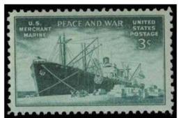 1946 USA Merchant Marine In World War II Stamp Sc#939 Historic Cargo Ship - Unused Stamps