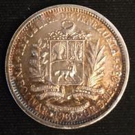 VENEZUELA - 1 BOLIVAR 1960 - Argent - Silver - KM 37a - Belle Patine - Venezuela