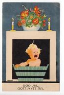 PC - EINAR NERMAN - SWEDEN / SUEDE / SVERIGE - CRYING CHILD - BATHTUB - USED 1940 - GOD JUL - CHRISTMAS - Ohne Zuordnung