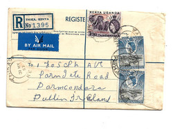 Ken012 / KENIA - Einschreiben Aus Thika, Kenia 1957 Nach Irland (Pullin) - Kenya & Uganda