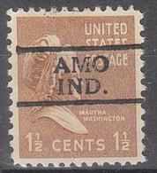 USA Precancel Vorausentwertungen Preos, Locals Indiana, Amo 728 - Préoblitérés