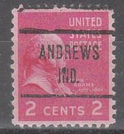 USA Precancel Vorausentwertungen Preos, Locals Indiana, Andrews 724 - Préoblitérés