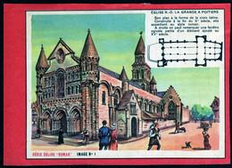 Poitiers Image Publicité Lindt Liebig Viandox Vache Sérieuse Série église Roman Poitiers ND La Grande 1960 Voir Explic - History
