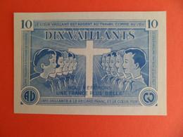 Billet De 10 Vaillants - 1ère Série /C - 1935-1945 - Billet Coeur Vaillant Et Ame Vaillante - Signé FA Breysse - Other