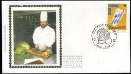 België - FDC Op Zijde - 2446 - 10 Jaar Vereniging Der Meesterkoks Van België - 1991-00