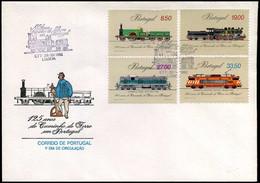 Portugal - FDC - Trains - Trains