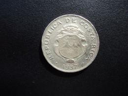 COSTA RICA * : 50 CENTIMOS   1937 (L)   KM 176         TTB ** - Costa Rica
